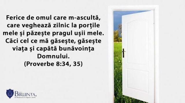proverbe 8 versete, verset, versetul saptamanii