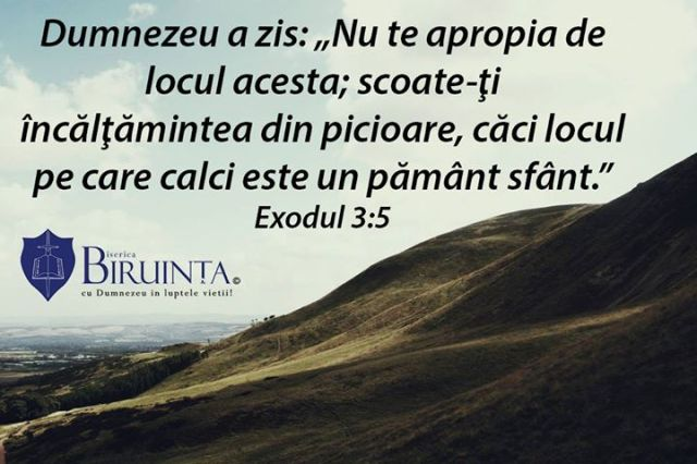 biserica biruinta londra exod 3 5