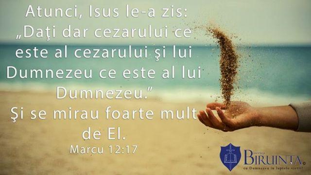 Marcu 12 17 biserica biruinta londra