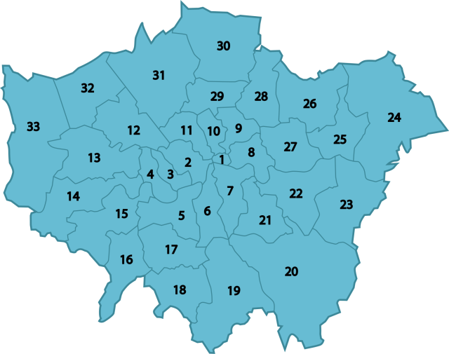 London-boroughs.no