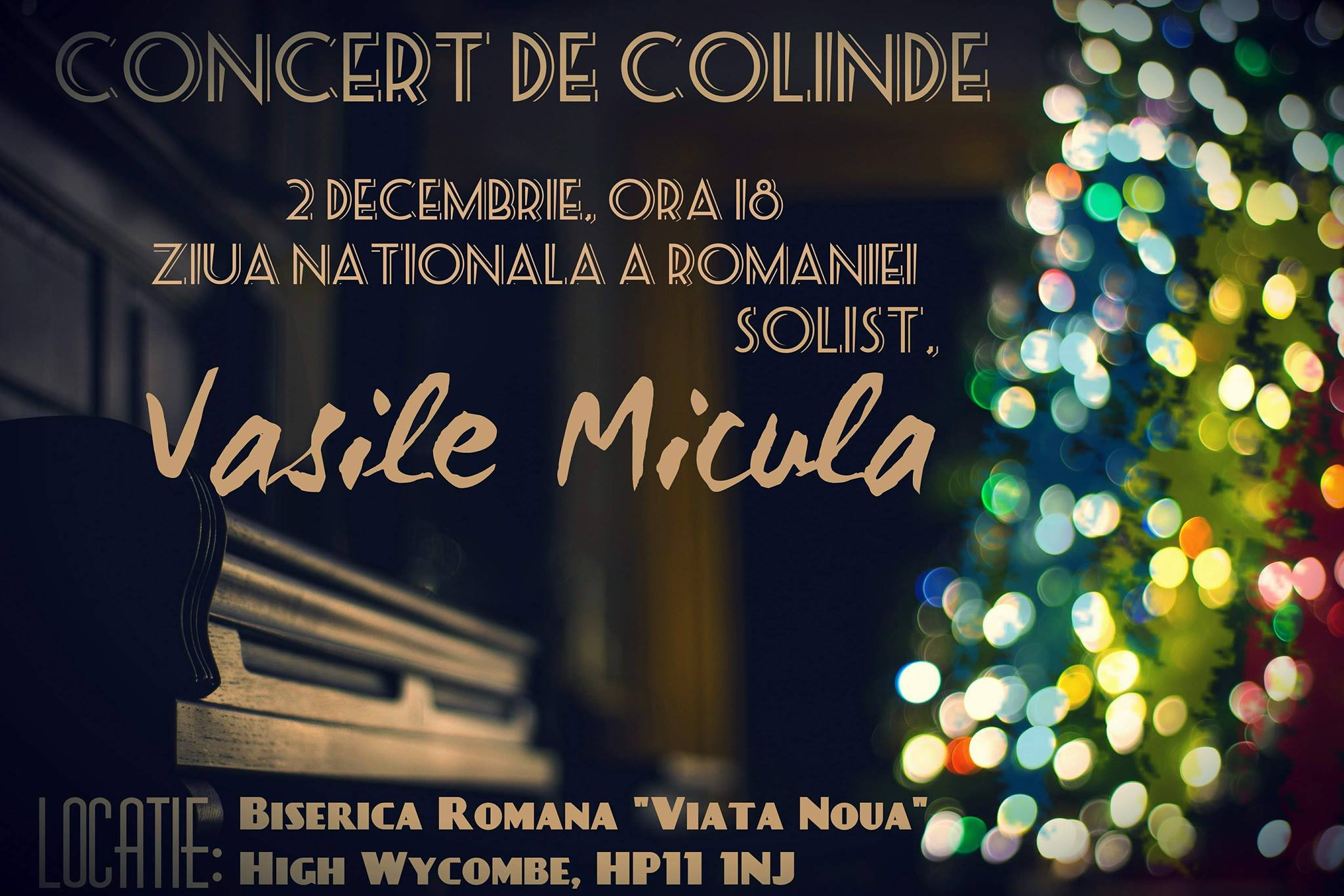 Concert de Colinde cu Vasile Micula – High Wycombe