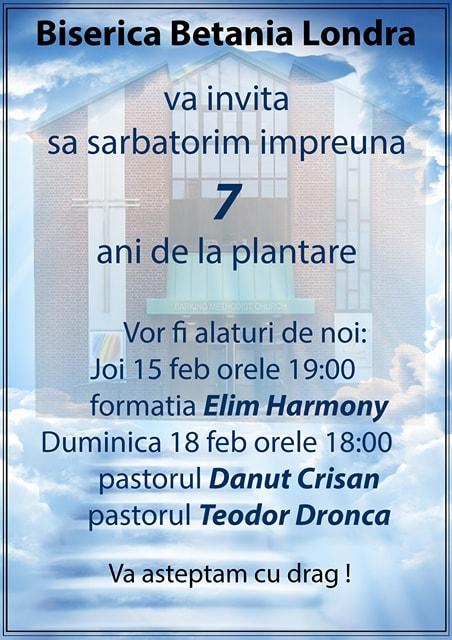 Biserica Betania- 7 ani de la plantare