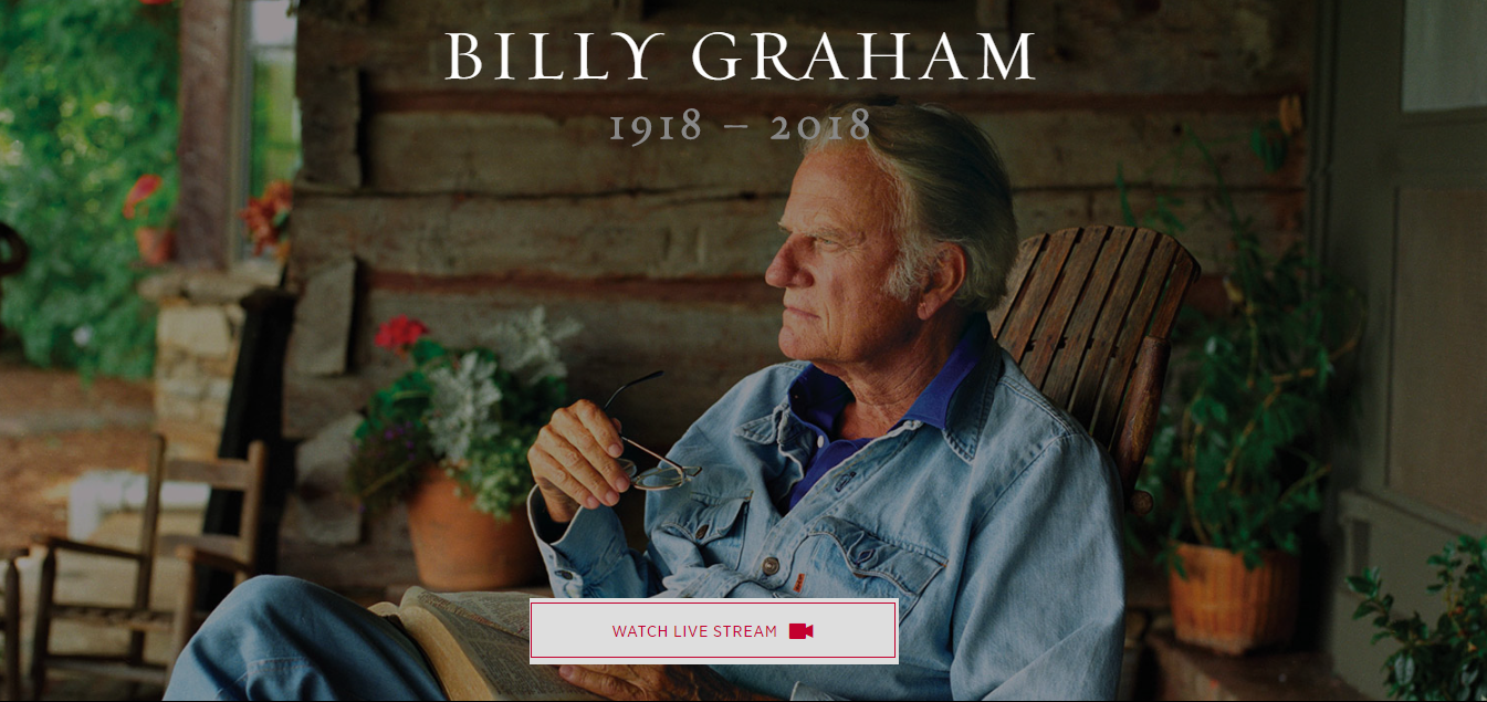 Billy Graham Memorial – Watch Live Stream