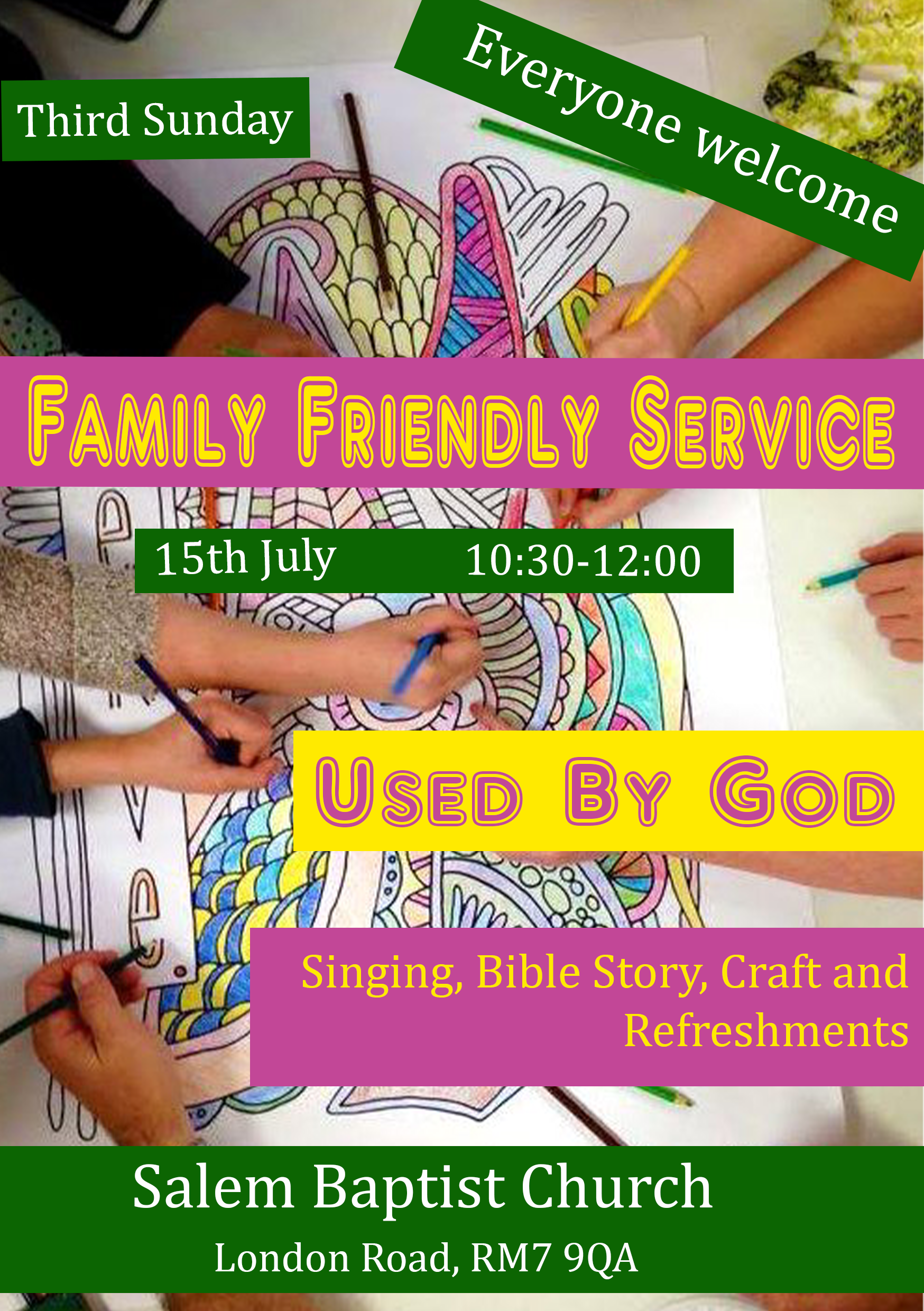 Romford event – Use by God