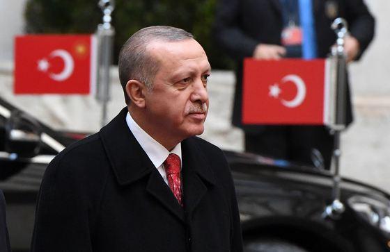 Turkey's President Erdogan meets Italian PM Gentiloni - Rome