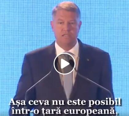 Mesajul presedintelui Iohannis