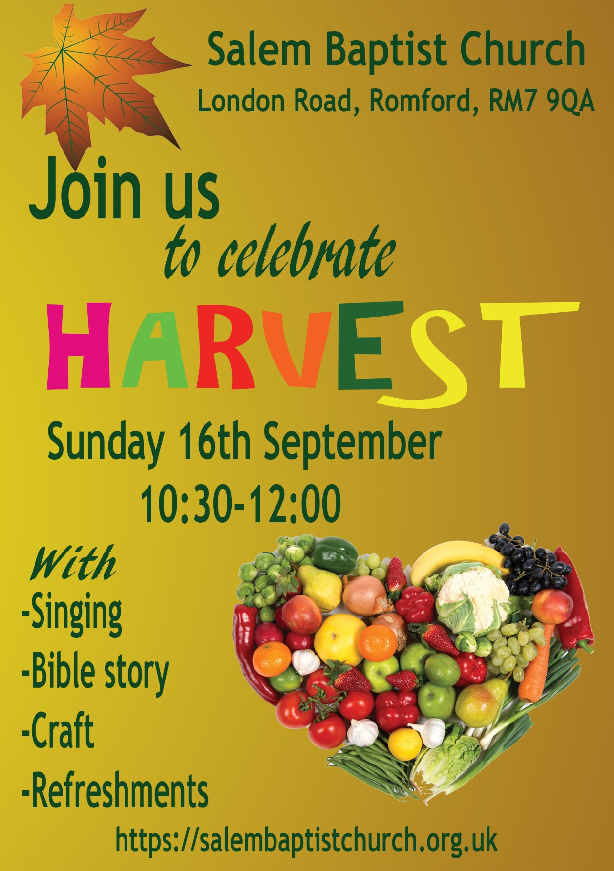 Harvest in Romford