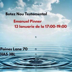 Biserica Emanuel Londra - Pinner  - Botez Nou Testamentar